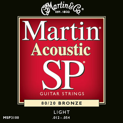 Martin MSP3100 80/20 Bronze Light SP, Full Set