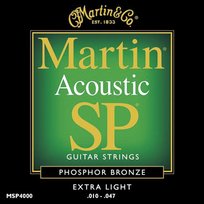 Martin MSP4000 Phosphor Bronze SP Extra Light, Full Set