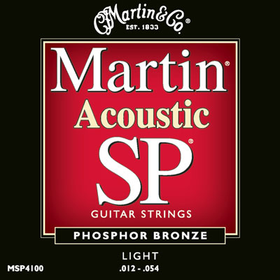 Martin MSP4100 Phosphor Bronze SP Light, Full Set