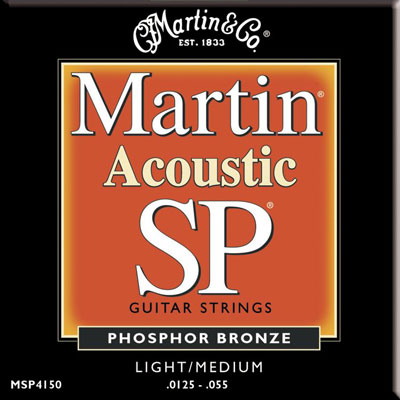 Martin MSP4150 Phosphor Bronze SP Light Medium, Full Set