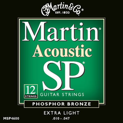 Martin MSP4600 Phosphor Bronze 12 String SP Extra Light, Full Set