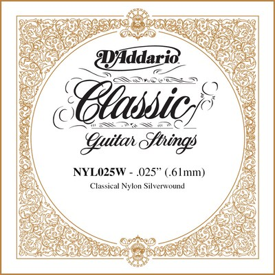 D'Addario NYL025W Classical Guitar .025, single string