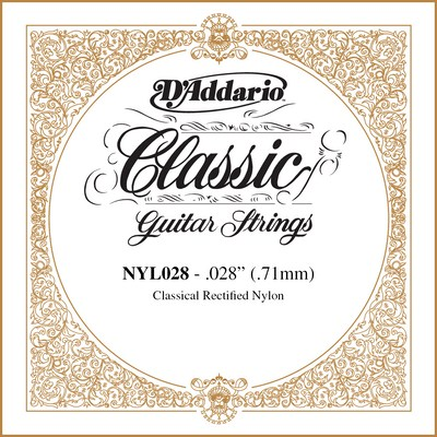 D'Addario NYL028 Classical Guitar Rectified Nylon .028 single string