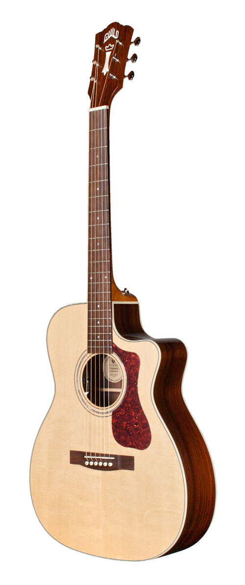 guild om 150ce orchestra acoustic guitar cutaway with electronics. Black Bedroom Furniture Sets. Home Design Ideas