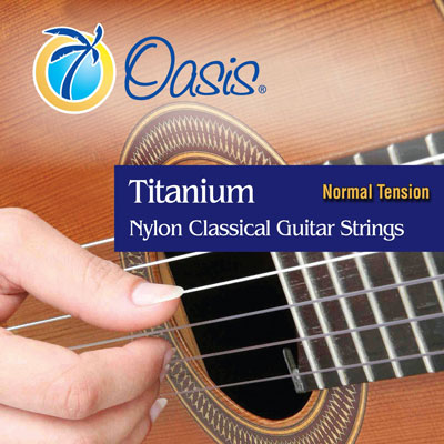 Oasis Titanium Nylon Classical Guitar Strings Normal Tension, Full Set