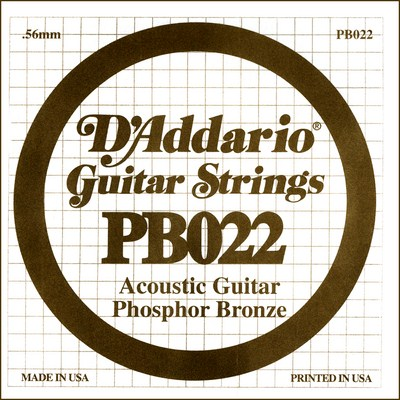 D'Addario PB022 .022 inches (.56 mm), Single String