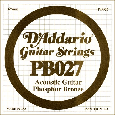 D'Addario PB027 .027 inches (.69 mm), Single String