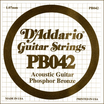 D'Addario PB042 .042 inches (1.07 mm), Single String