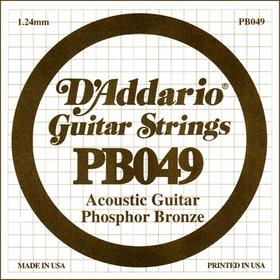 D'Addario PB049 .049 inches (1.24 mm), Single String