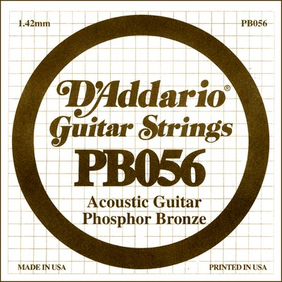 D'Addario PB056 .056 inches (1.42 mm), Single String