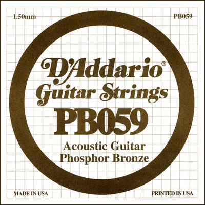 D'Addario PB059 .059 inches (1.50 mm), Single String