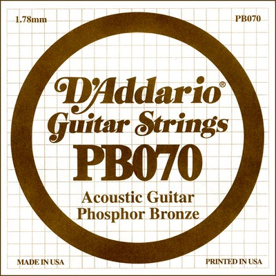 D'Addario PB070 .070 inches (1.78 mm), Single String