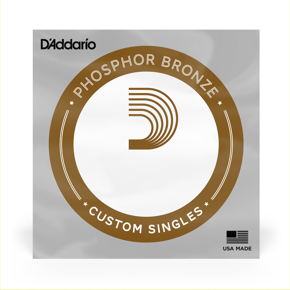 D'Addario Single Electric Bass, Phosphor Bronze PBB130