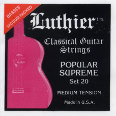 Luthier Popular Supreme Set 20 Medium Tension, Full Set