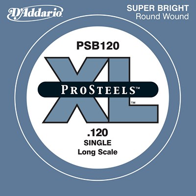 D'Addario Single Electric Bass, Pro Steels PSB120