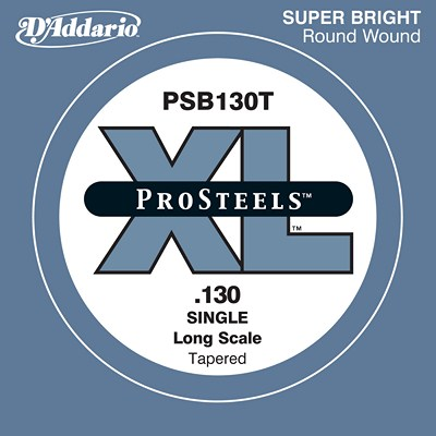D'Addario Single Electric Bass, Pro Steels PSB130T, Tapered