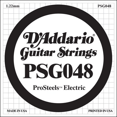 D'Addario PSG048 ProSteels Wound .048, Single String