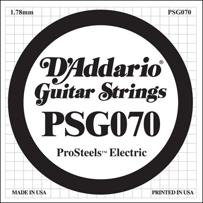 D'Addario PSG070 ProSteels Wound .070, Single String