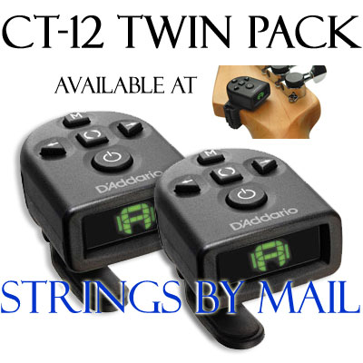 Planet Waves 2 Pack Micro NS Headstock Tuner PW-CT-12TP