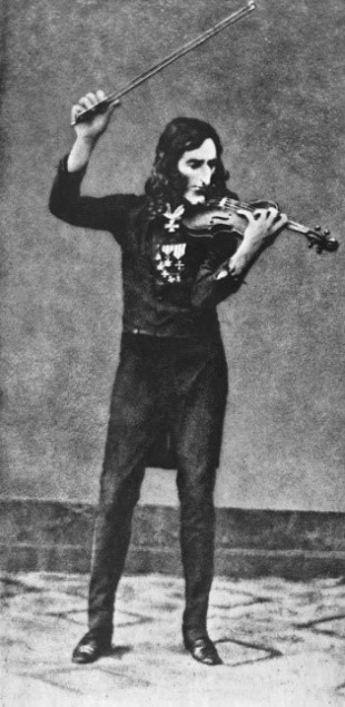 Daguerréotype of Paganini, taken ca. 1840.