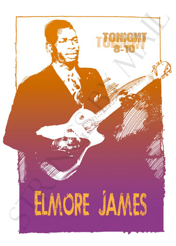 Elmore James Poster by illustrator Rick Daigh