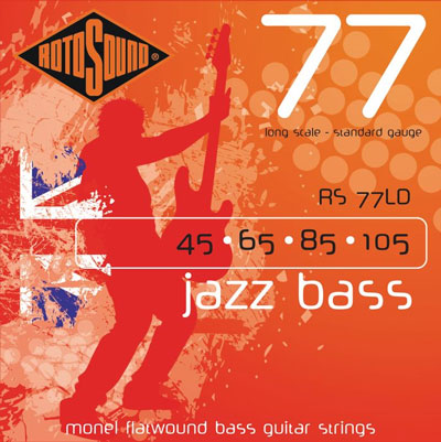 Rotosound RS77LD Jazz Bass Monel Flat Wound (45-105)
