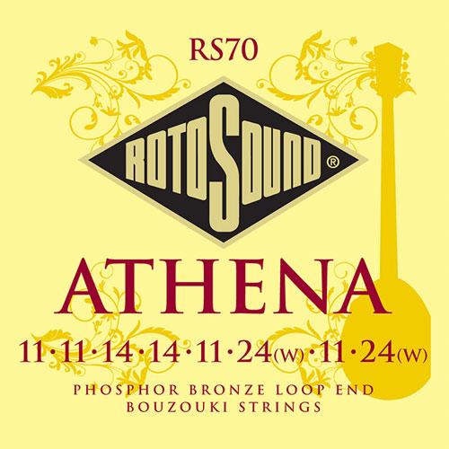 Ball-End 8 Single String Set Light Gauge Customs 10-40 John Pearse Strings For Irish Bouzouki 80//20 Bronze Wound 5250S