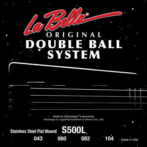 la bella bouble ball flat wound electric bass strings s500l 43 104. Black Bedroom Furniture Sets. Home Design Ideas