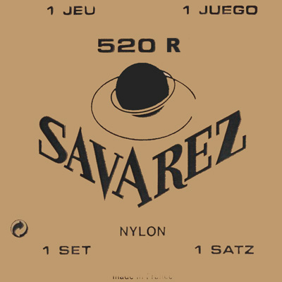 Savarez 520R Rectified Trebles/Red Basses High Tension, Full Set