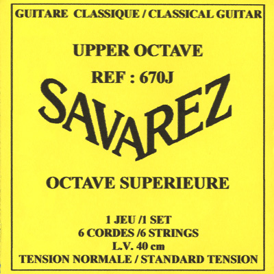Savarez 670J Upper Octave Soprano Guitar Norm (High) Tension, Full Set