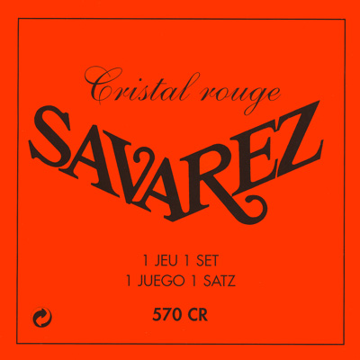 Savarez 570CR Cristal Rouge Normal Tension, Full Set