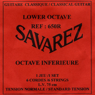 Savarez 650R Lower Octave (Contra Bass) Normal Tension, Full set