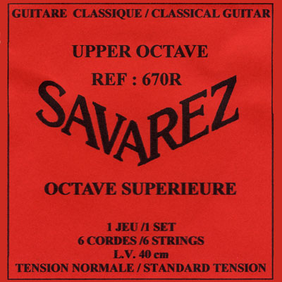 Savarez 670R Upper Octave, Soprano Guitar Normal Tension , Full Set