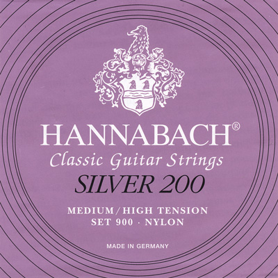 Hannabach Silver 200 Set 900 - Medium-High Tension, Full Set