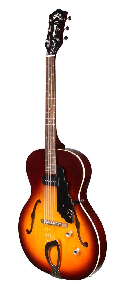 guild t 50 slim hollow body electric guitar vintage sunburst with hsc. Black Bedroom Furniture Sets. Home Design Ideas