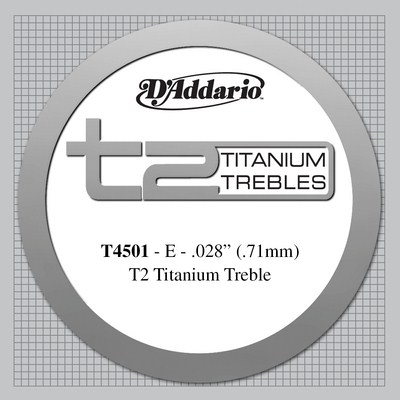 D'Addario T45 Titanium Normal Tension, Treble Set