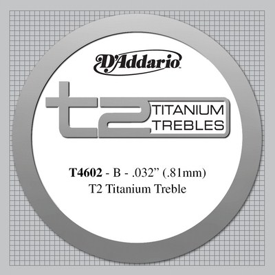 D'Addario Titanium T4602 - 2nd string (b) hard tension .0325