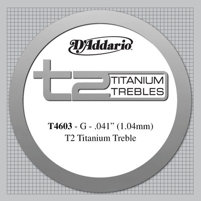 D'Addario Titanium T4603 - 3rd string (g) hard tension .041
