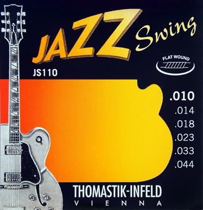 Thomastik Strings for Electric Guitar Jazz Swing Series Nickel Flat Wound Set JS111 Light .011-.047W