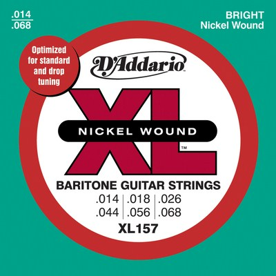 D'Addario XL157 Bartione Guitar Medium (14-68), Full Set