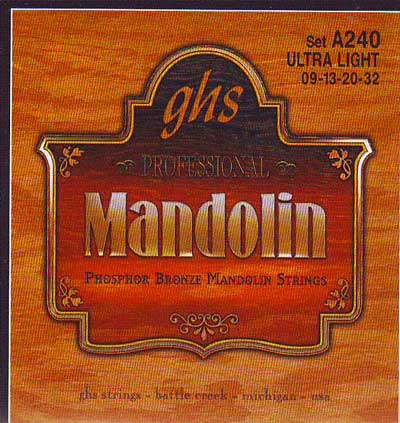 GHS Mandolin Extra Light Gauge (9-32), Full Set
