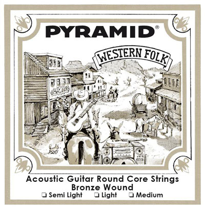 Pyramid Acoustic Western Folk Round Core Semi Light (11-50)