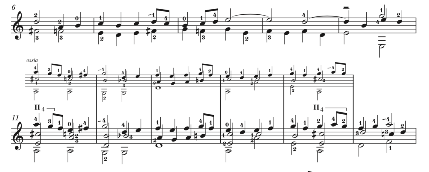 Example 1. Violin Sonata III, BWV 1005: Fuga, mm. 6–15