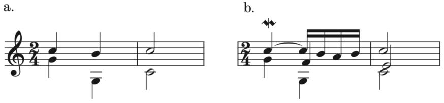 Example 2. Cadential Schema