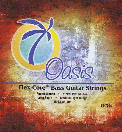 Oasis Electric Bass 4-String Long Scale, Full Set