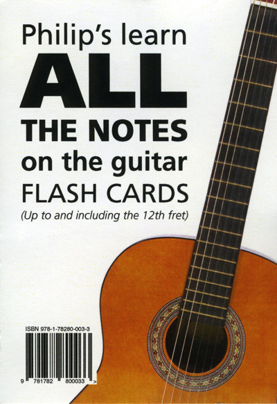Philip's Learn ALL the Notes of the Guitar Flash Cards