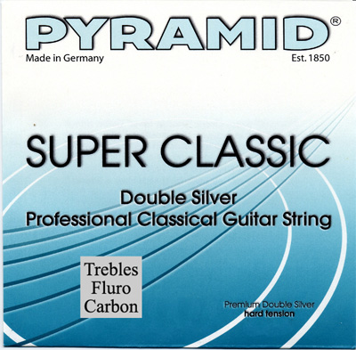 Pyramid Classical Guitar Double Silver Carbon HT, Full Set