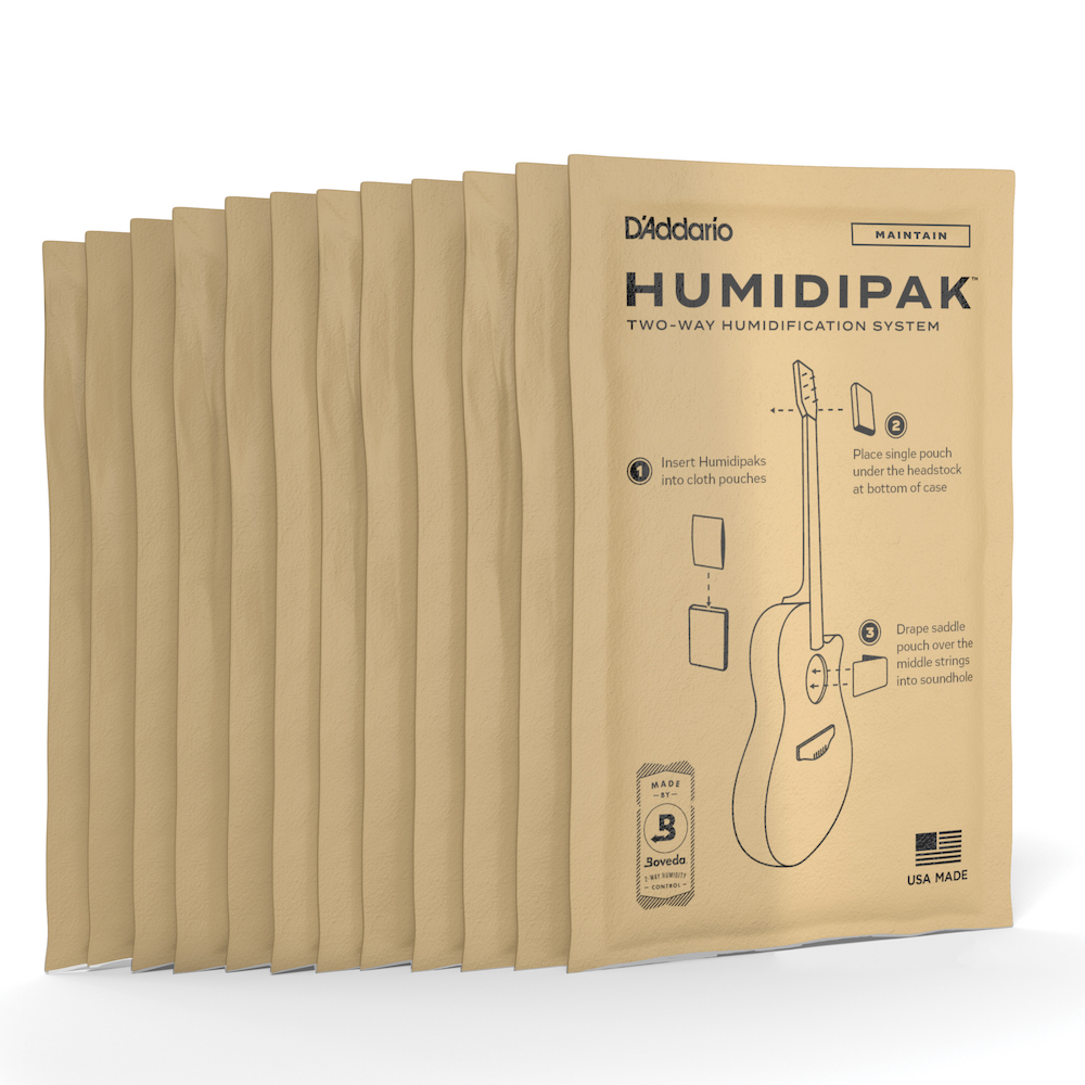 4 Sets 12 Total Packs D/'Addario Humidipak Replacements