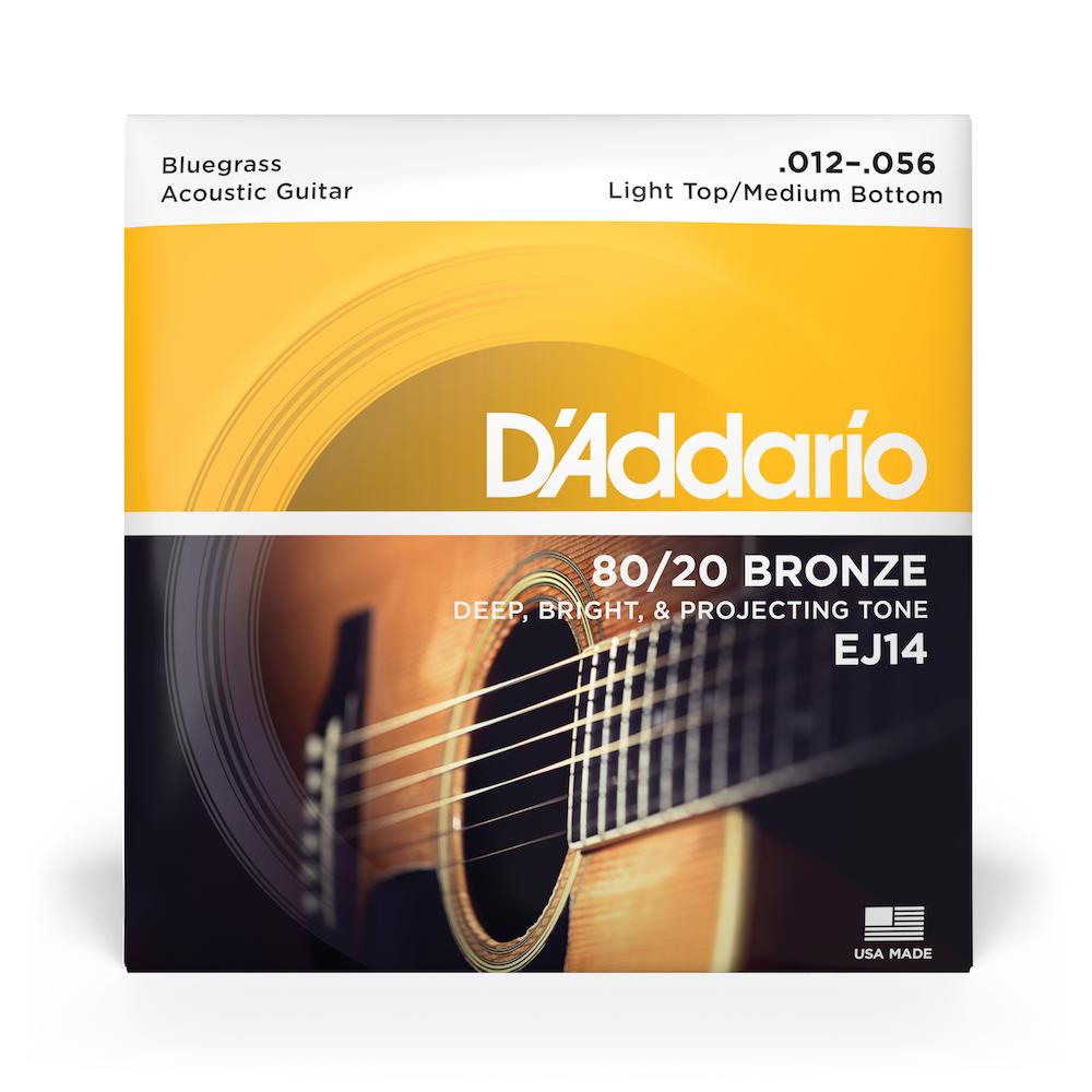 D/'Addario EJ14 80//20 Bronze Bluegrass 12-56 Acoustic Guitar Strings