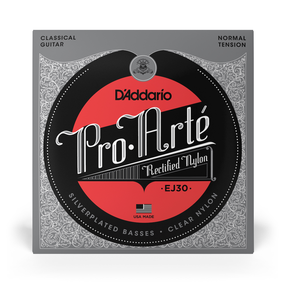D'Addario EJ30 Classic Rectified Nylon Normal Tension, Full Set